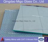 Specchio decorativo della parete della stanza da bagno dell'argento o dell'alluminio di sicurezza della pellicola del vinile