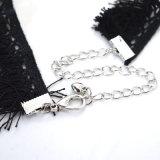 Punk Met de hand gemaakt haakt de Halsband van de Nauwsluitende halsketting van het Kant met de Zwarte Leeswijzer van de Kabel
