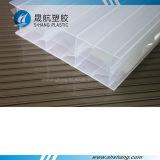 Strato bianco del tetto del parasole del policarbonato delle cinque pareti per la decorazione