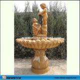 自然な大理石の球の噴水