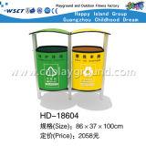 Outdoor de lixo plástico colorido Bin (HD-18611)