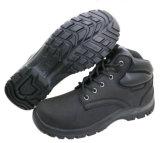 De zwarte die Schoenen van de Veiligheid van de Teen van het Staal van het Leer van Nubuck van de Koe in China worden gemaakt