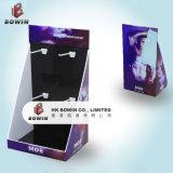Affichage de la pendaison en carton ondulé statif au sol avec cintres sous-vêtements d'affichage affichage des crochets en carton