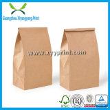 Пользовательский размер коричневый крафт-бумаги или мешок для производства продуктов питания