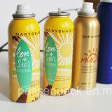 botella de aluminio del aerosol 100ml para el aerosol de la protección solar