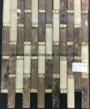 Classicialの縞木の大理石およびガラスのモザイク