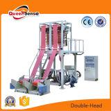 Máquina que sopla de la película del estirador del LDPE de la película principal doble del HDPE