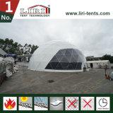 Tenda della serra della cupola geodetica con la parte superiore libera