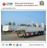 de Semi Aanhangwagen van de Vrachtwagen 80tons Lowbed/Lowboy met Zijwand