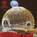 LEDのクリスマスの人工的な装飾の装飾的な正方形のための屋外の巨大な球ライト