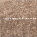 Border、Flooring、Bathroomのための自然なブラウンLight Emperador Marble Tiles