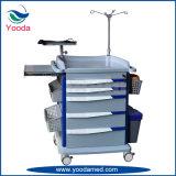Carretilla médica de la emergencia del ABS de los muebles del hospital