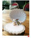 Mazzo a cristallo dei monili del Brooch di Pin di Pin dell'uccello del mini Brooch chiaro variopinto della perla intorno ai monili coltivati d'acqua dolce della perla di 7-8mm