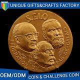 Famosa moeda metálica com o logotipo personalizado
