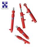 Cilindro hidráulico de ação dupla com forquilha para cilindro de máquinas agrícolas