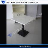 Chaise de table longue et rapide, table de salle à manger Corian, table de banquet moderne en marbre