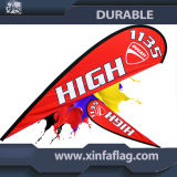 Custom High Quality Fashion Polyester Red Beach Flag pour affichage