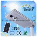 10W IP65 통합 운동 측정기 LED 태양 가로등
