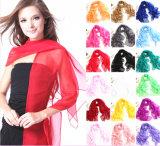 Longues couleurs Chiffon de vente courantes de l'écharpe 32