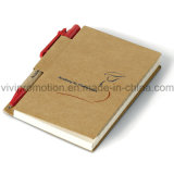 Diario personalizado Bloc de notas con papel reciclado de la pluma (PNB013)