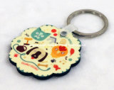 Flower Shape Sublimation MDF Fashion Keychain