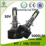 9005 linterna del automóvil de 50W 5000lm LED