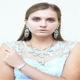 De nieuwe Oorring van de Armband van de Halsband van de Juwelen van de Manier van de Bloem van de Hars van het Punt Vastgestelde