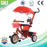 Triciclo para crianças com três rodas Triciclo infantil com telhado