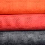 Cuir gravé en relief coloré d'éponge de PVC pour le tissu stratifié par PVC de sac