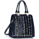 ヒョウの穀物PUのハンド・バッグのMirroの革女性のハンドバッグ