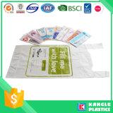 Sacchetto di plastica di carità della maniglia della maglia per donazione
