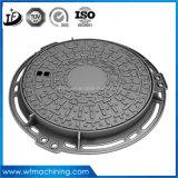 En124 A15 둥근 맨홀 뚜껑을%s 가진 연성이 있는 철 하수 오물 맨홀 뚜껑