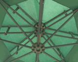 10ft Round Double Roof Banana Umbrella Outdoor Umbrella 정원 Umbrella Parasol