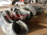 Máquina de estaca Waste do pneu do móbil 3000mm OTR com roda