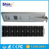 Luz de rua solar do jardim da bateria 30W da microplaqueta LiFePO4 de Bridgelux