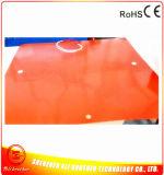 Chaufferette en verre 1000*1000*1.5mm 110V 800W d'impression en caoutchouc de silicones
