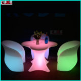 Tabla de luz LED al aire libre y Chaircordless con control remoto