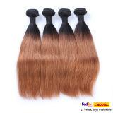 調子のWeftブラジルの毛の卸売のRemyの毛のOmbreによって着色される人間の毛髪