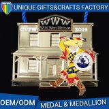 Medaglia di oro superiore del medaglione su ordinazione dello smalto per i corridori