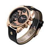Rose Gold Double Movement Multifuncional Rosegold Watch