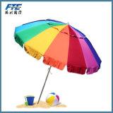 Guarda-chuva de praia do arco-íris do gigante 8 '