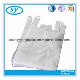 Sac à provisions en plastique de HDPE de traitement de gilet pour le supermarché