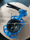Two Shaft Wafer Butterfly Valve with Aluminum Handle