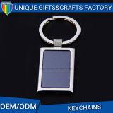Cadeau de promotion Coloré Remplir Logo Rectangle Accessoires en métal Porte-clés