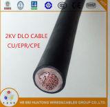 2kv 1/0AWG 2/0AWGは銅Cu/Epr/CPE Dloケーブルを錫メッキした