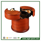Коробка хранения уникально деревянных ювелирных изделий круглая с ящиками