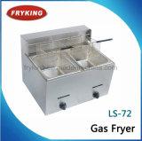 Двойной Fryer газа нержавеющей стали бака для кухни