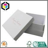 Caixa de presente luxuosa do papel do cartão da jóia do logotipo da folha de ouro amarelo
