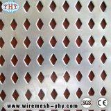 Hoja de metal perforada decorativa de acero de la alta calidad