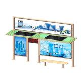 Exibição de Publicidade de aço personalizado exterior Solar abrigos do Barramento CAN